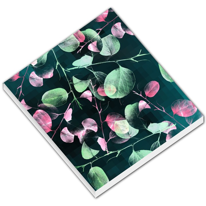 Modern Green And Pink Leaves Small Memo Pads