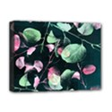 Modern Green And Pink Leaves Deluxe Canvas 16  x 12   View1