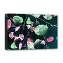Modern Green And Pink Leaves Deluxe Canvas 18  x 12   View1