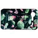 Modern Green And Pink Leaves HTC Incredible S Hardshell Case  View1