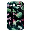 Modern Green And Pink Leaves HTC Wildfire S A510e Hardshell Case View3