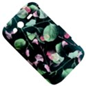 Modern Green And Pink Leaves HTC Wildfire S A510e Hardshell Case View5