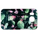 Modern Green And Pink Leaves HTC Desire HD Hardshell Case  View1