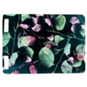 Modern Green And Pink Leaves Kindle Touch 3G View1