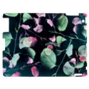 Modern Green And Pink Leaves Apple iPad 2 Hardshell Case View1