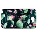 Modern Green And Pink Leaves Samsung Galaxy Note 2 Hardshell Case View1