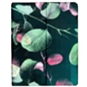 Modern Green And Pink Leaves Apple iPad Mini Flip Case View1