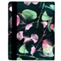Modern Green And Pink Leaves Apple iPad Mini Flip Case View3