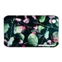 Modern Green And Pink Leaves Apple iPhone 3G/3GS Hardshell Case (PC+Silicone) View1