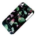 Modern Green And Pink Leaves Apple iPhone 3G/3GS Hardshell Case (PC+Silicone) View4