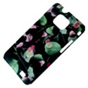 Modern Green And Pink Leaves Samsung Galaxy S II i9100 Hardshell Case (PC+Silicone) View4