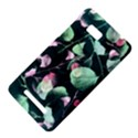 Modern Green And Pink Leaves HTC One SU T528W Hardshell Case View4