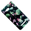 Modern Green And Pink Leaves HTC One SU T528W Hardshell Case View5