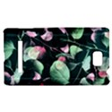 Modern Green And Pink Leaves HTC 8S Hardshell Case View1