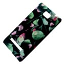 Modern Green And Pink Leaves HTC 8S Hardshell Case View4