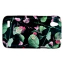 Modern Green And Pink Leaves HTC Desire V (T328W) Hardshell Case View1