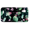 Modern Green And Pink Leaves HTC Desire VT (T328T) Hardshell Case View1