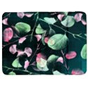 Modern Green And Pink Leaves Samsung Galaxy Tab 7  P1000 Flip Case View1