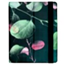 Modern Green And Pink Leaves Samsung Galaxy Tab 7  P1000 Flip Case View2