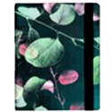 Modern Green And Pink Leaves Samsung Galaxy Tab 10.1  P7500 Flip Case View3