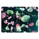 Modern Green And Pink Leaves Samsung Galaxy Tab 8.9  P7300 Flip Case View1