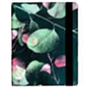 Modern Green And Pink Leaves Samsung Galaxy Tab 8.9  P7300 Flip Case View2