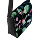 Modern Green And Pink Leaves Flap Messenger Bag (L)  View2