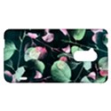 Modern Green And Pink Leaves HTC One Max (T6) Hardshell Case View1