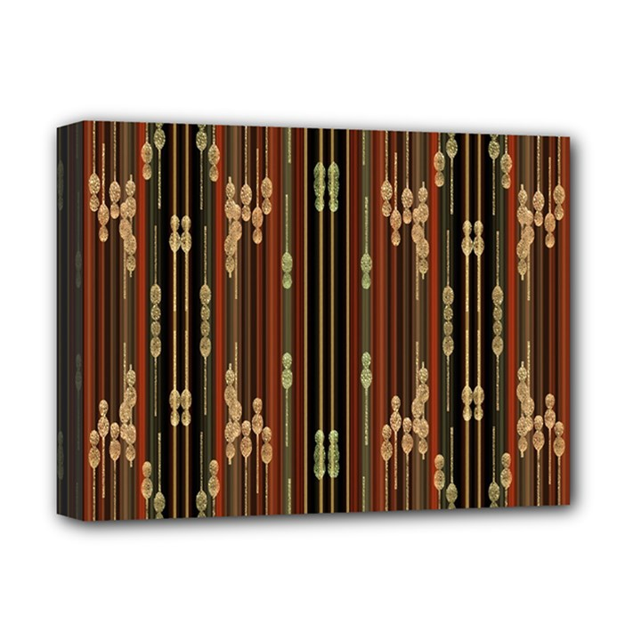 Floral Strings Pattern  Deluxe Canvas 16  x 12