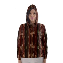Floral Strings Pattern  Hooded Wind Breaker (Women)