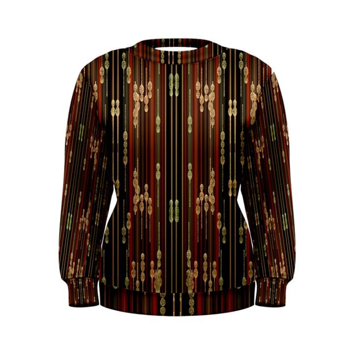 Floral Strings Pattern  Women s Sweatshirt