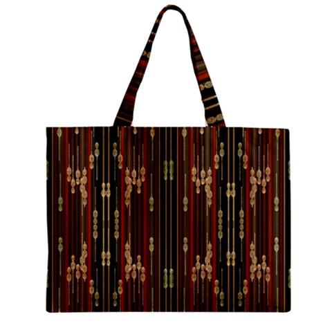 Floral Strings Pattern  Zipper Mini Tote Bag