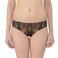 Floral Strings Pattern  Hipster Bikini Bottoms