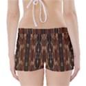 Floral Strings Pattern  Boyleg Bikini Wrap Bottoms View2