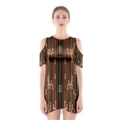 Floral Strings Pattern  Cutout Shoulder Dress