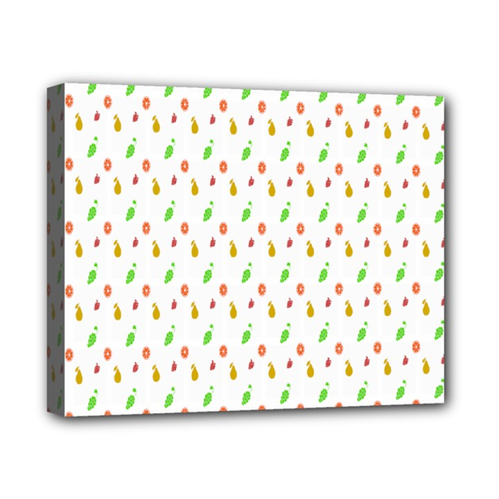 Fruit Pattern Vector Background Canvas 10  x 8