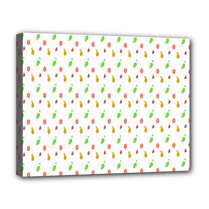 Fruit Pattern Vector Background Canvas 14  x 11