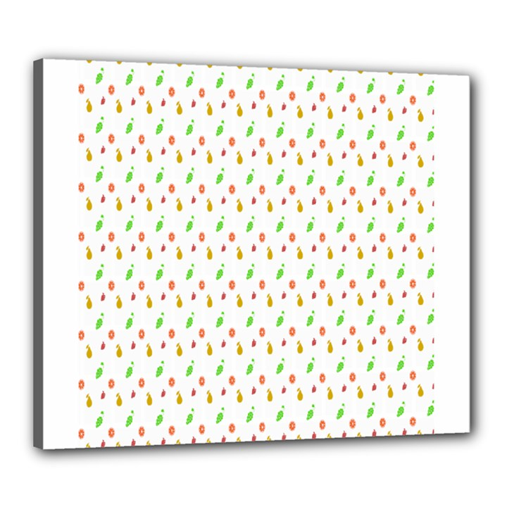 Fruit Pattern Vector Background Canvas 24  x 20