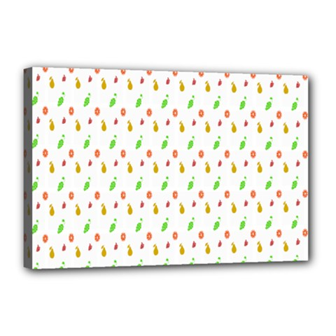 Fruit Pattern Vector Background Canvas 18  x 12