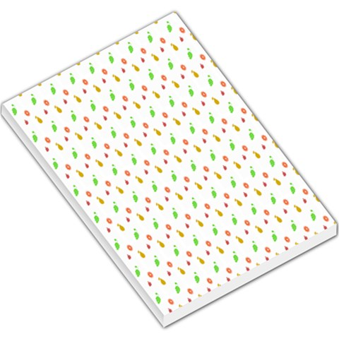 Fruit Pattern Vector Background Large Memo Pads