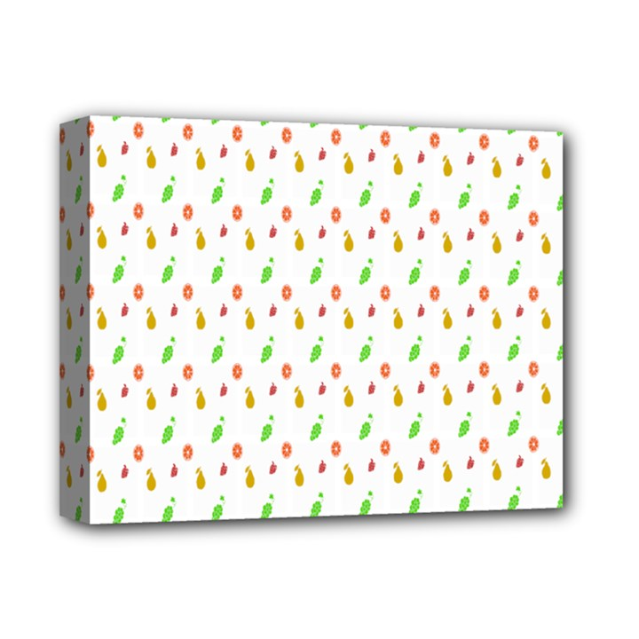 Fruit Pattern Vector Background Deluxe Canvas 14  x 11