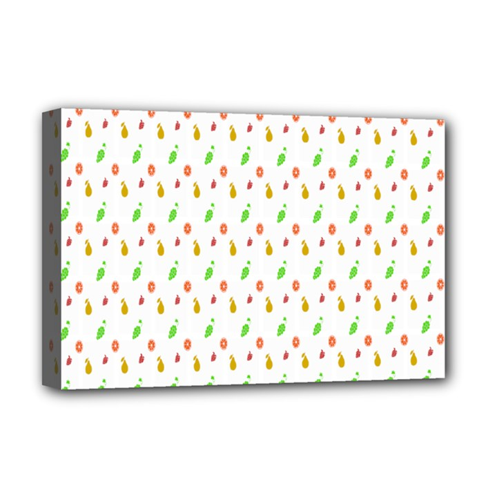 Fruit Pattern Vector Background Deluxe Canvas 18  x 12