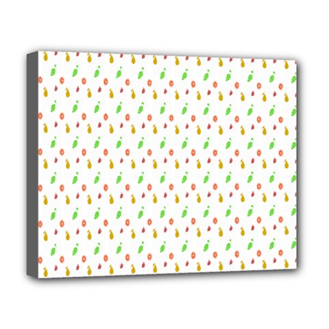 Fruit Pattern Vector Background Deluxe Canvas 20  x 16