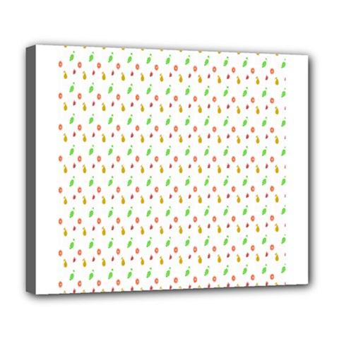 Fruit Pattern Vector Background Deluxe Canvas 24  x 20