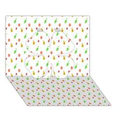 Fruit Pattern Vector Background Clover 3D Greeting Card (7x5)