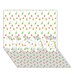 Fruit Pattern Vector Background HOPE 3D Greeting Card (7x5)