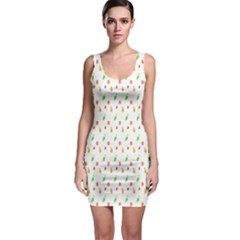 Fruit Pattern Vector Background Sleeveless Bodycon Dress