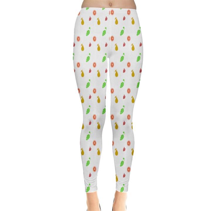 Fruit Pattern Vector Background Leggings
