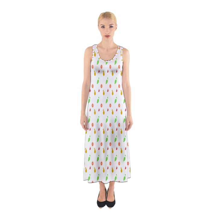 Fruit Pattern Vector Background Sleeveless Maxi Dress