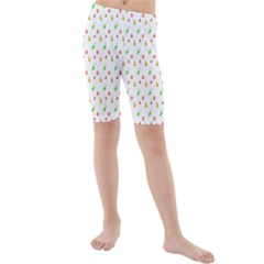 Fruit Pattern Vector Background Kids  Mid Length Swim Shorts